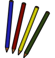 Four pencils vector image