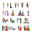 celebrity flat colored decorative icons vector image