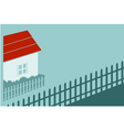 Private house in the country vector image
