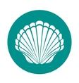 Scallop sea shell vector image