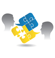 Ukrainian lesson dialog vector image