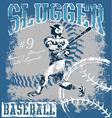 baseball slugger vector image vector image