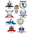 Team and individual sporting emblems vector image vector image