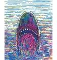 Drawing Marker Shark vector image vector image