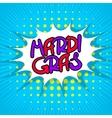 Blue lettering Mardi Gras vector image