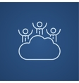 Cloud computing line icon vector image