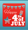happy 4 th of july card united states of america vector image