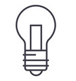 light lamp line icon sign o vector image
