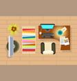 office room interior decor vector image