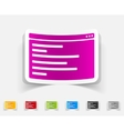 realistic design element browser window vector image