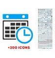 Timetable Flat Icon vector image