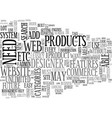 What features should your ecommerce web site have vector image