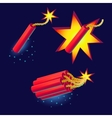 Bomb with sparkles icon vector image
