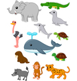 Cartoon wild animals vector image vector image