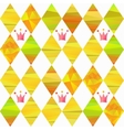 seamless pattern with carnival crown vector image