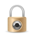 metallic combination padlock vector image vector image