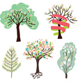 Set of spring blossom trees vector image