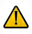 yellow danger sign vector image vector image