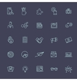 Thin line icons set Icons for business vector image