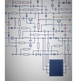 Electrical Circuit diagram vector image vector image
