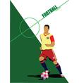 Soccer silhouette vector image
