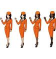 air hostess 2 vector image