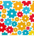 colorful background with pattern of pinions vector image