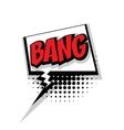 Comic text bang pop art bubble vector image