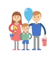 Happy family with child vector image