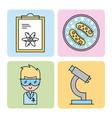 icon set laboratory scientific examinations vector image