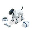 isometric set of techno robot dog vector image