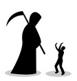 man is afraid of death vector image