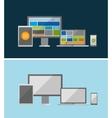 responsive ui flat design concept vector image