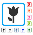 tulip framed icon vector image