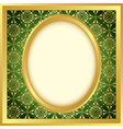 golden frame with bright pattern vector image
