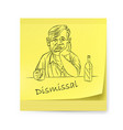 yellow sticker with an alcoholic on white vector image vector image