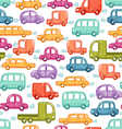 Cars doodles pattern vector image vector image