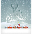 Christmas background with reindeer vector image