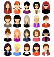 Set of flat icons set with women vector image