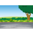 tree beside road vector image vector image