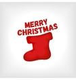 Christmas red sock vector image
