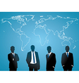 Global human resources concept business people vector image