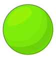 Green ball icon cartoon style vector image