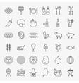Grill Menu Line Icons Set vector image