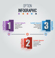 infographic elements with 3 rectangle patterns vector image