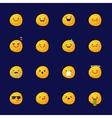moon emoji set Funny planet emoticons vector image