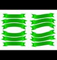 Ribbon Banner Green vector image