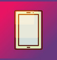 tablet pad icon on gradient backdrop vector image