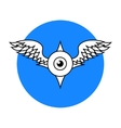 Winged Eyeball vector image