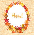 Autumn doodle frame vector image vector image